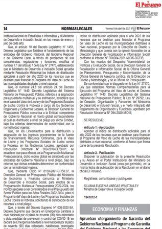 Decreto Supremo N°063-2021-EF