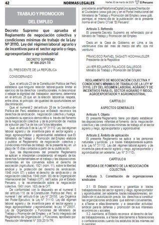 Decreto Supremo N°006-2021-TR