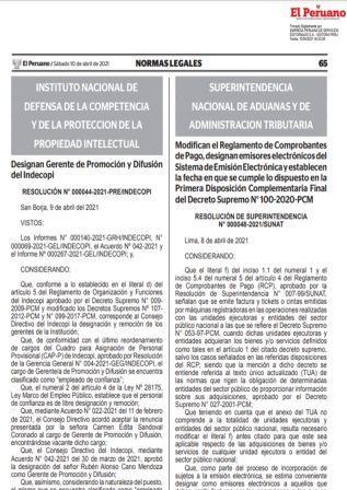 Resolución De Superintendencia N°000048-2021/SUNAT