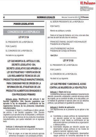 Ley N°31154