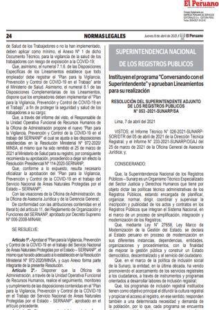 Resolución N°053-2021-SUNARP/SA
