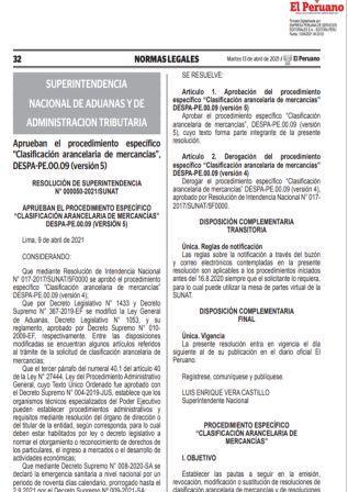 ResoluciónN°000050-2021/SUNAT