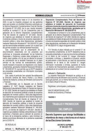 Decreto Supremo N°008-2021-TR