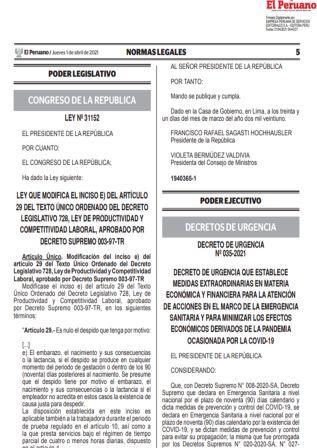 Ley N°31152