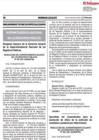 ResoluciónN°062-2021-SUNARP/SA