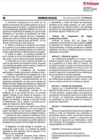 Resolución N°043-2021-SUNARP/