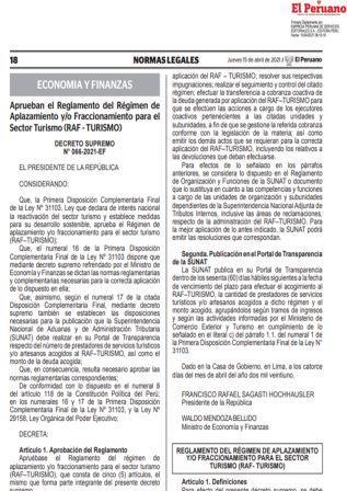 Decreto Supremo N°066-2021-EF
