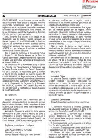 Decreto Supremo Nº077-2021-EF