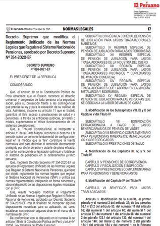 Decreto Supremo N°086-2021-EF
