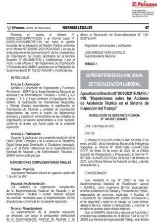 ResoluciónN°140-2021-SUNAFIL