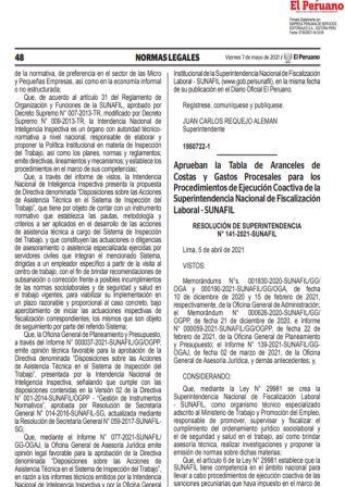 ResoluciónN°141-2021-SUNAFIL