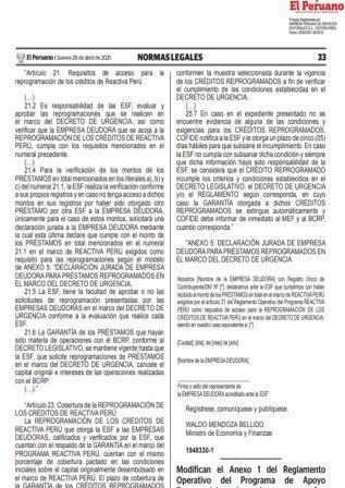 Resolución Ministerial N°140-2021-EF/15