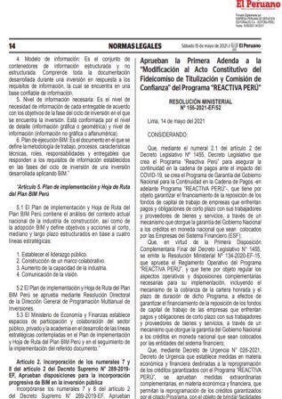 Resolución Ministerial N°155-2021-EF/52