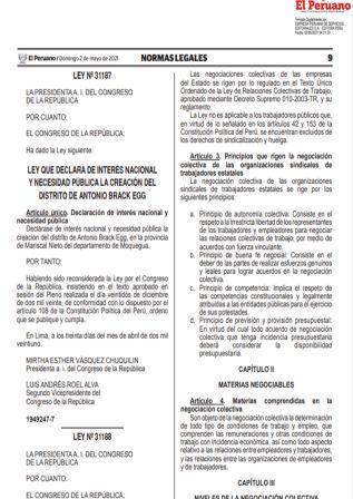 Ley N°31188