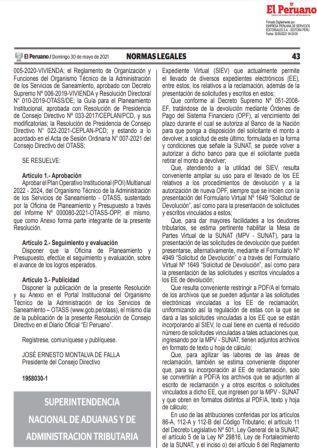 Resolución N°000072-2021/SUNAT