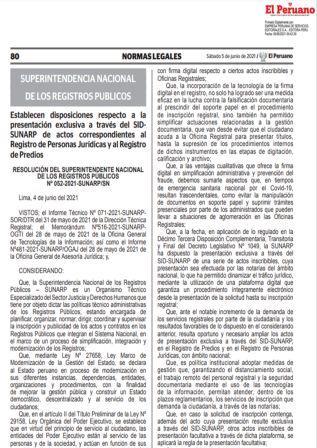 ResoluciónN°052-2021-SUNARP/SN