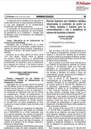 Decreto Supremo N°014-2021-EM