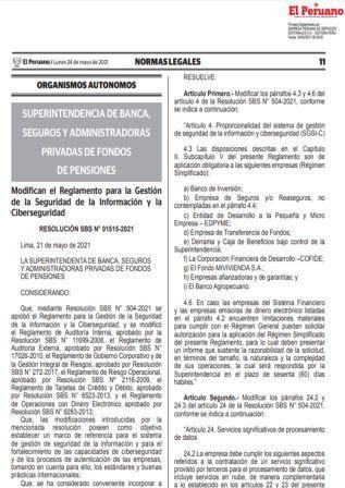 Resolución SBS N°01515-2021