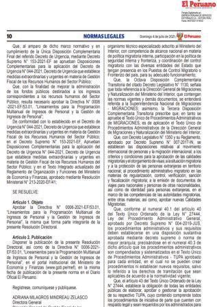 Decreto Supremo N°006-2021-IN