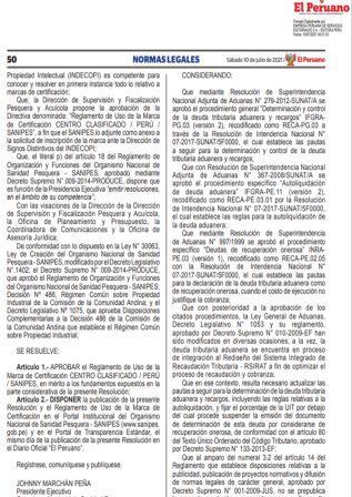 Resolución De Superintendencia N°000094-2021/SUNAT