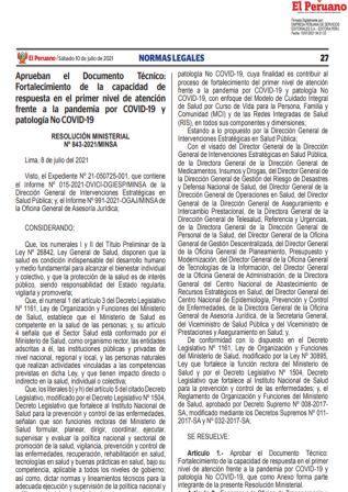 Decreto Supremo N°015-2021-TR