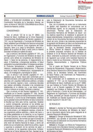 Resolución Ministerial N°121-2021-TR