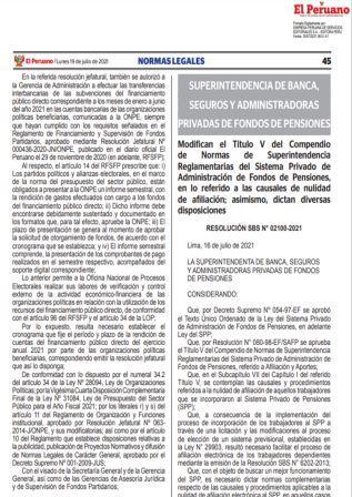 Resolución SBS N°021-00-2021