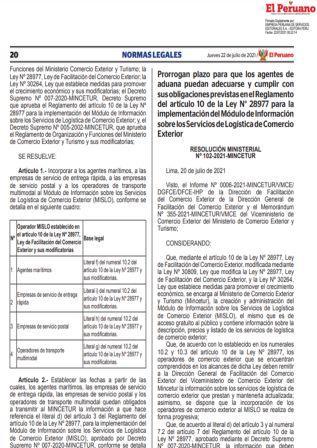 Resolución Ministerial N°102-2021