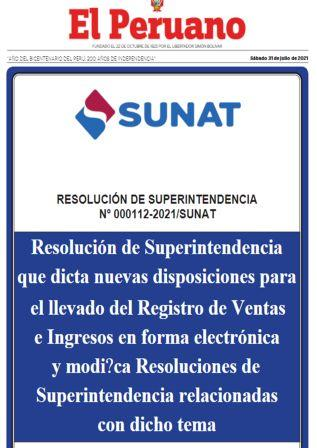 Resolución N°000112-2021/SUNAT