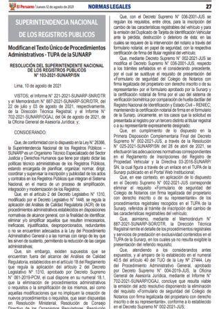 Resolución N°103-2021-SUNARP/SN